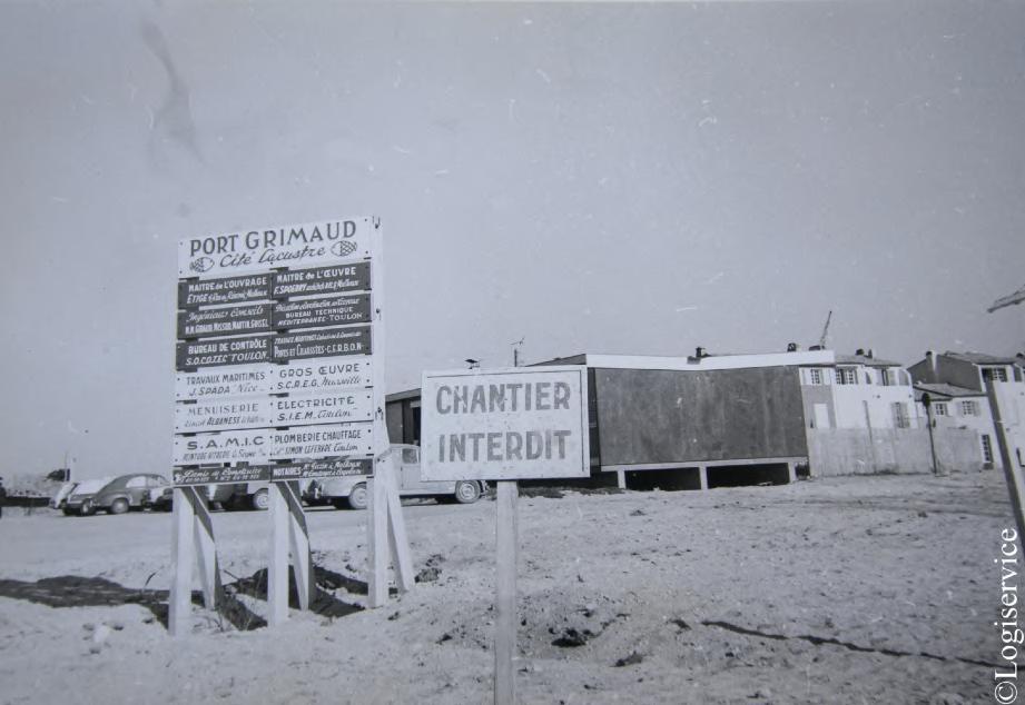 Photo panneaux Port Grimaud marecage histoire