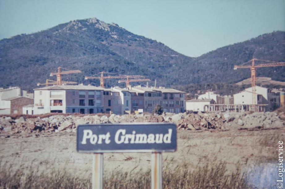 Panneau Port Grimaud - Photo Histoire de port Grimaud