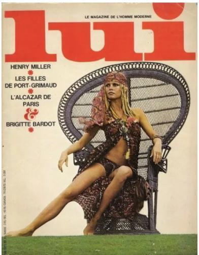Brigitte Bardot a Port Grimaud - Couverture du magazine LUI