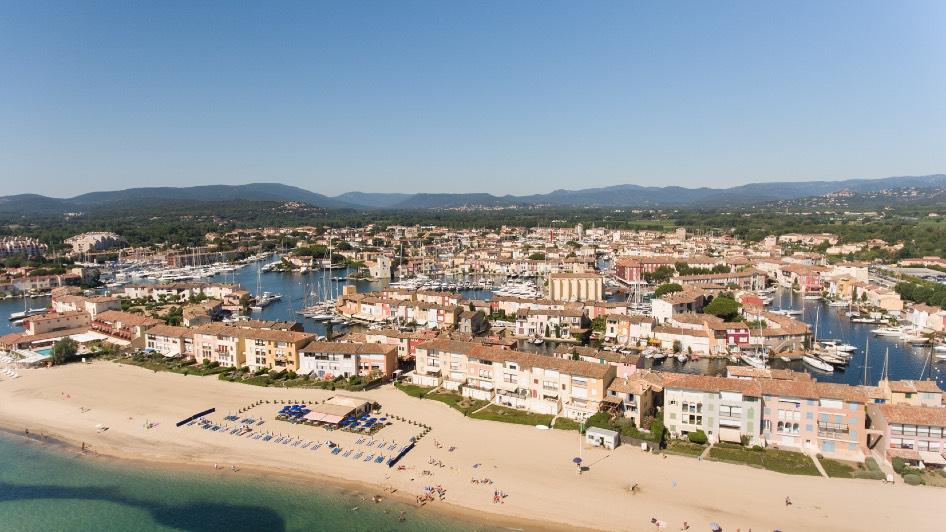 Port Grimaud vue du ciel - Var - Logiservice histoire de Port Grimaud