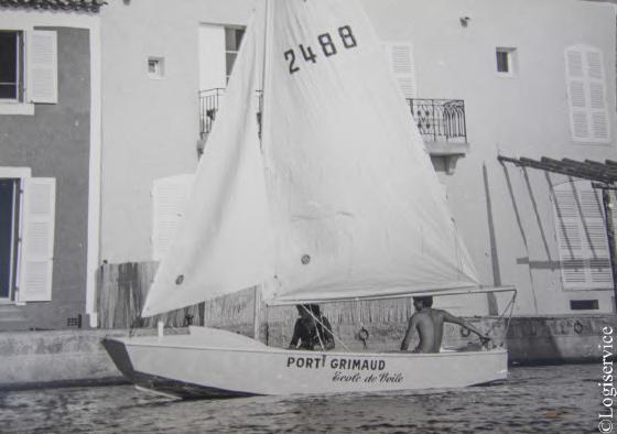 Photo historique Port Grimaud Voile