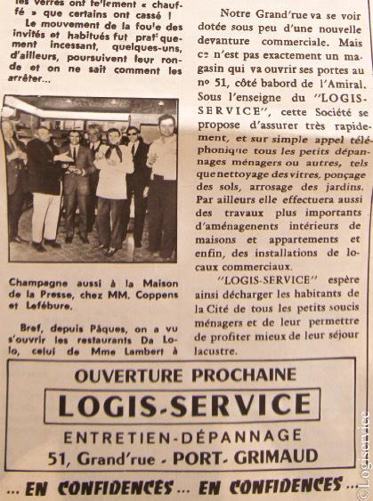 Logiservice - Ouverture dans le courrier de Port Grimaud